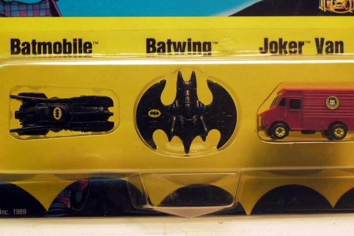 Batman The Movie - Batmobile Batwing Joker Van micro size - ERTL