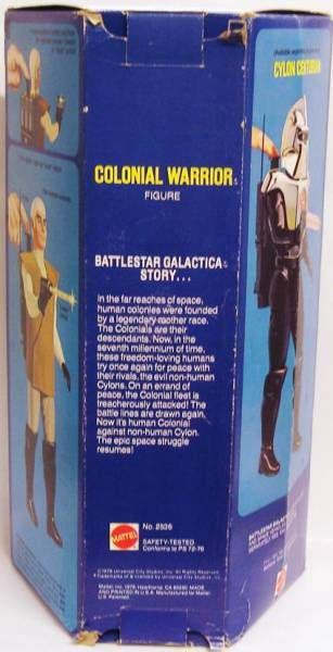 Battlestar Galactica  - 12\\\'\\\' Mattel figure - Colonial Warrior (loose with box)