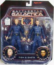 Battlestar Galactica - Diamond Select figures - Col. Saul Tigh & Lt. Felix Gaeta