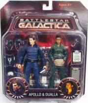 Battlestar Galactica - Diamond Select figures - Lee \'\'Apollo\'\' Adama & Anastasia \'\'Dee\'\' Dualla