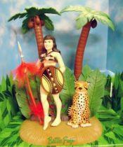 (Bettie Page - Dark Horse Comics - Posable Figure - Jungle Bettie Page