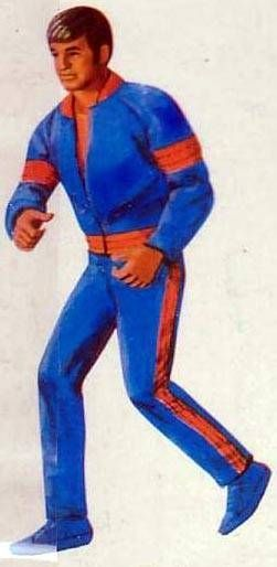 Big Jim - Adventure series - Blue and Orange sport outfit (ref.8211)