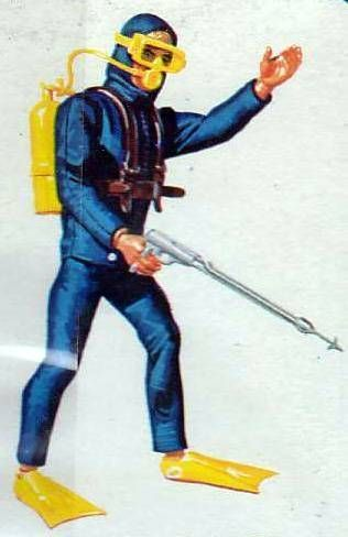 Big Jim - Adventure series - Scuba Diver Adventure set (ref.5434)