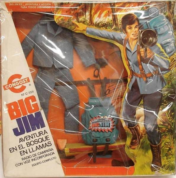 Big Jim Adventure series - Mint in Gongost box Burning Woods Perils (ref.7371)