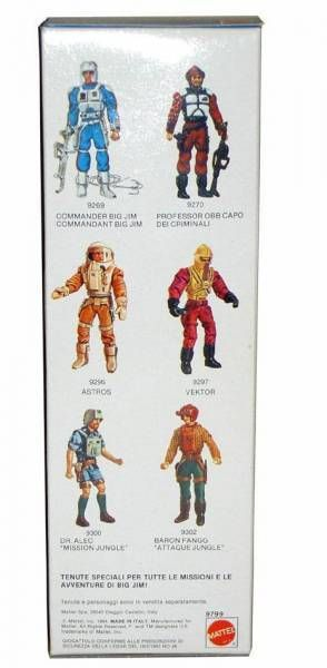 Big Jim Commando series - Mint in box Prof. Obb Condor Force (ref.9799)