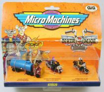 Biker Mice from Mars - Micro Machines set #1 (Throttle & Evil-Eye Weevil) - Galoob-GIG