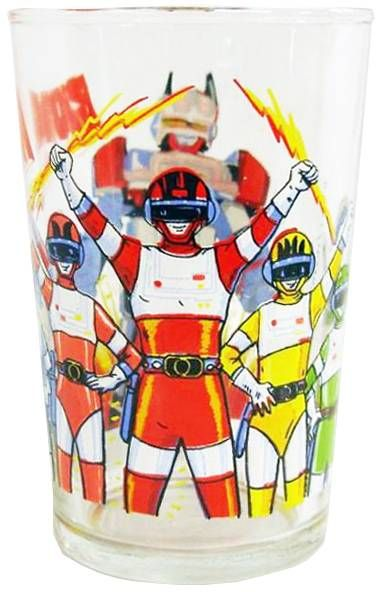 Bioman - Amora drinking glass \\\'\\\'Biomen & Bio-Robo\\\'\\\'