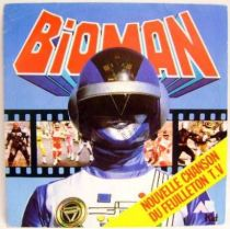 Bioman - Mini-LP Record - Original French TV series Soundtrack - AB Kid records 1987
