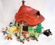 Blanche Neige - Bullyland - La Maison de Blanche-Neige + 9 personnages (occasion)