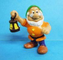 Blanche Neige - Figurine PVC Bully 1982 - le nain Prof