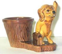 Bobi the dog vintage ceramic pencil holder