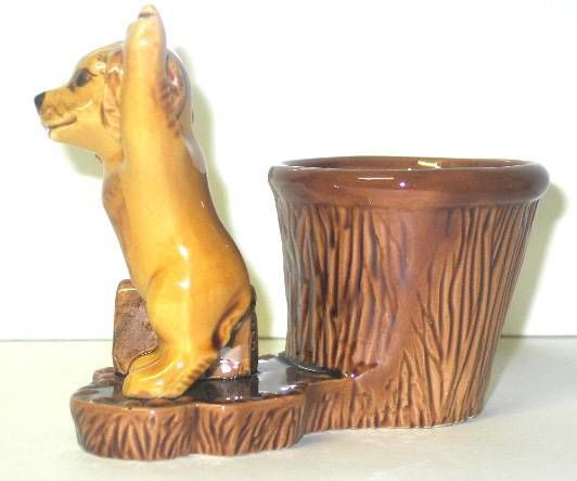 Bobi the dog vintage ceramic pencil holder