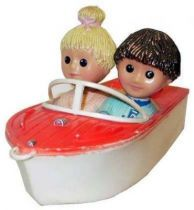 Bonne Nuit les Petits -  Cld Plastic Toy -  Boat with Nicolas & Pinprennelle