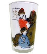 Bonne Nuit les Petits - Amora Mustard Glass - Nicolas et Pimprenelle put on Nounours