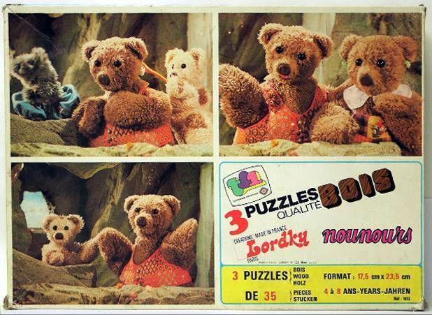 Bonne Nuit les Petits - box set of 3 wooden jigsaw puzzles