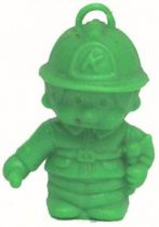 Bonux Monchichi Fireman green figure