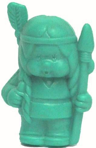 Bonux Monchichi Indian squaw turquoise figure