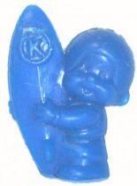 Bonux Monchichi Surfer blue figure