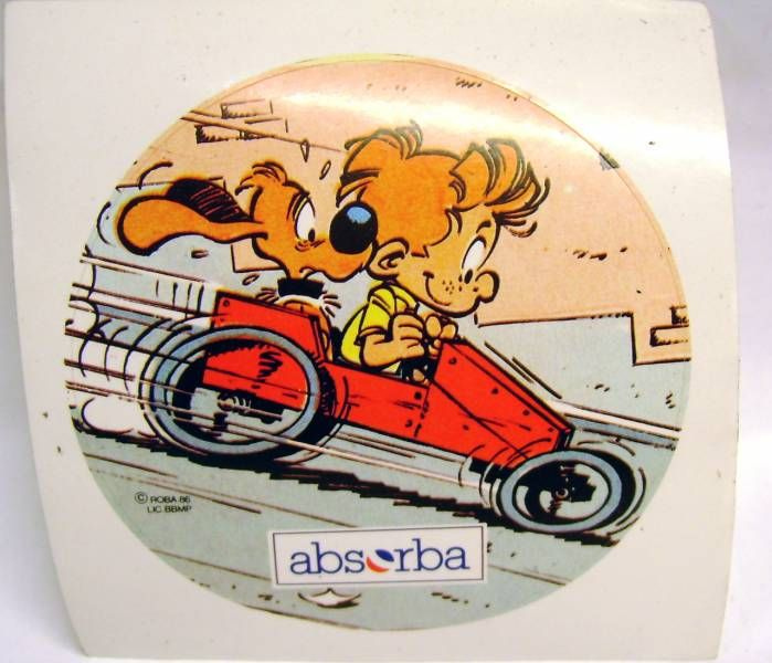 Boule & Bill - Absorba sticker - Boule & Bill drives a \'\'soap box\'\'