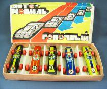 Boxset of 5 Russian Tin Toy Racing Cars (1960-70\'s)