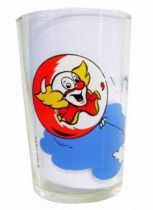 Bozo the Clown - Mustard glass - Bozo flies away
