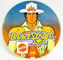BraveStarr - Promotional Sticker (round version) - Mattel 1987