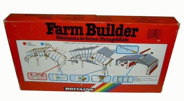 Britains - The Farm - Builder Garage Building (ref 4708) (Mint in Box)