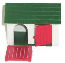 Britains - The Farm - Kennel Dog (white green rouf red door) (ref 4703)