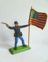Britains Deetail - Federate - Footed Flag holder