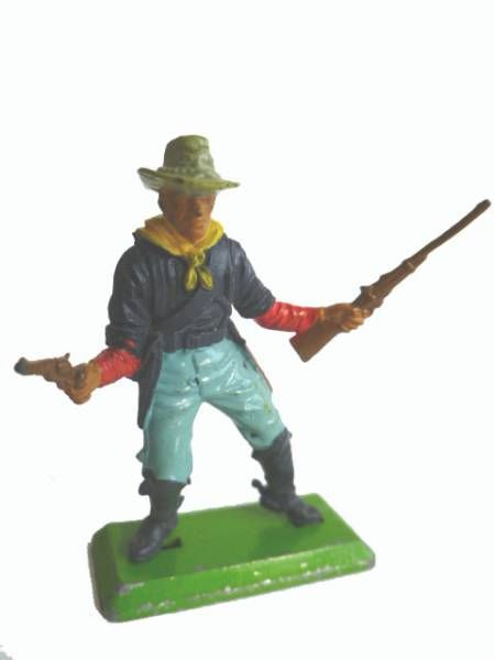 Britains Deetail - U.S. Cavalry - Footed with rifle & gun