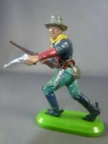 Britains Deetail (China) - U.S. Cavalry - Footed attacking with rifle & gun