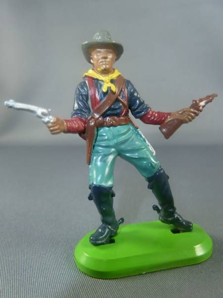 Britains Deetail (China) - U.S. Cavalry - Footed with rifle & gun