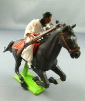 Britains Deetail Arabs Desert Fighter Mounted rifle on side black galloping horse