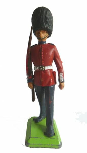 Britains Deetail Regimental Soldier Guard marching rifle on right shoulder