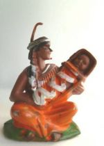 Britains Herald - Indian - Footed seated squaw with baby (ref ?)