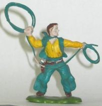 Britains Herald Cowboy Footed with lasso (yellow & blue) (ref 602)