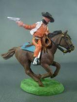 Britains Hong Kong - Cowboy - Mounted masked bandit (orange)