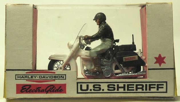 Britains Mint in Box Us Sheriff and Harley Davidson (1st box)