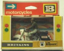 Britains Mint in Box Us Sheriff and Harley Davidson (2sd box)