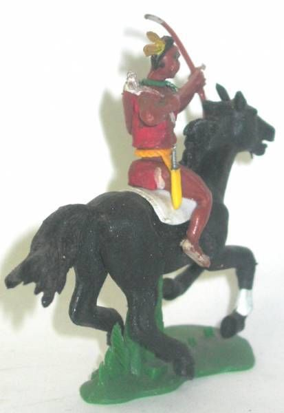 Britains Swoppets - Indian - Mounted bowman black horse (ref 532)