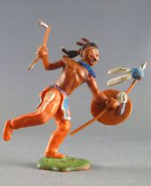 Britains Swoppets - Indien - Piéton Courant lance bouclier & tomahawk