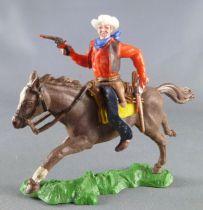 Britains Swoppets Cowboy Cavalier tireur 2 révolvers chemise rouge (réf 633)
