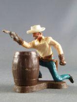 Britains Swoppets Cowboy Piéton Tireur retranché (réf 661)