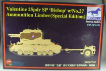 Bronco Models CB35077SP WW2 British Valentine 25pdr SP Bishop w/N°27 Ammunition Limber Special Edition 1/35