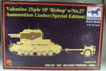 Bronco Models CB35077SP WW2 British Valentine 25pdr SP Bishop w/N°27 Ammunition Limber Special Edition 1:35