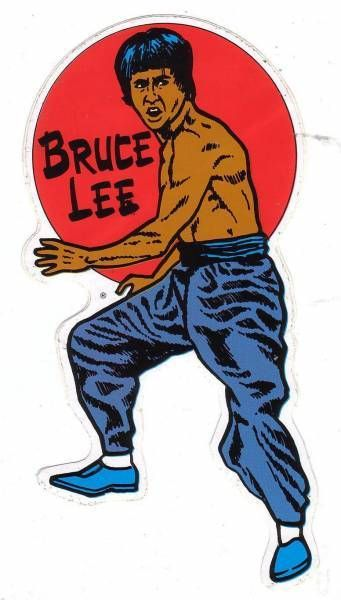 Bruce Lee - Sticker Kung-Fu