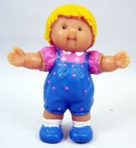Cabbage Patch Kids - PVC Figure 1984 - Blonde boy in blue overall