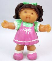 Cabbage Patch Kids - PVC Figure 1984 - Brunette girl with pink dress