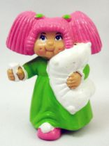 Cabbage Patch Kids - PVC Figure 1984 - Pink-haired girl with pillow