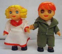 Candy & Anthony -  Vinyl Dolls Mint in box Rose dress